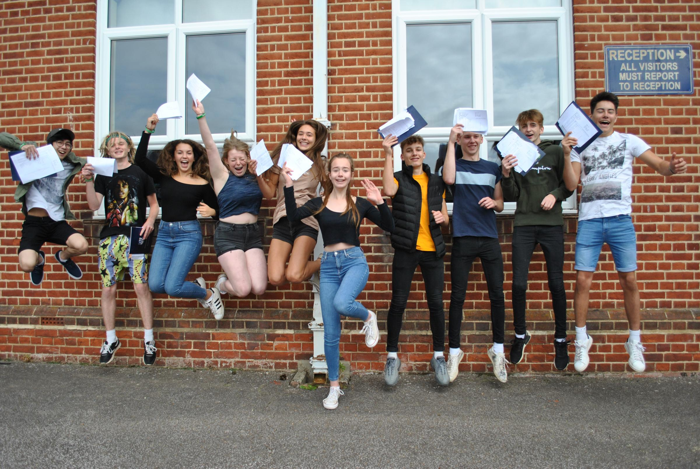 Hard work pays off for GCSE pupils at Queen Elizabeth's High School